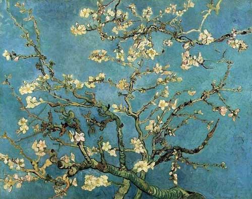 《杏树花开》布面油画,73.5cm*92cm,阿姆斯特丹梵高博物馆