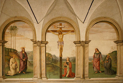 The Crucifixion painted by Pietro Perugino