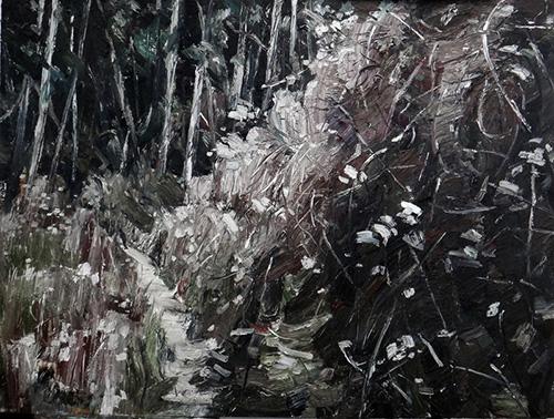 和丽斌作品《荒原. 昼与夜》布面油画 200×150cm 2012.10