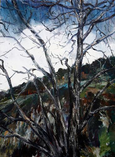 和丽斌作品《荒原· 等待》布面油画 180×240cm 2013年