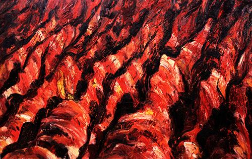 和丽斌作品《逐日· 另一面》布面油画 300×190cm 2013年