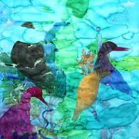 刘丽芬Liu Lifen 隐仙 Hidden Fair 纸本丙烯水彩 Acylic & Watercolor on Paper 90x150cm 2013