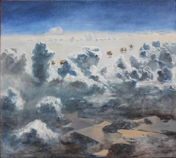 《云上马帮-2》180X200CM 布面油画 2009