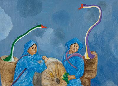 段建宇,《杀 杀 杀马特4》,140X180cm 布面油画,2014