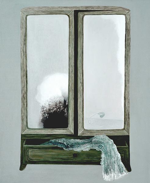 苏亚碧,《柜子4》2010布面油画120x150cm