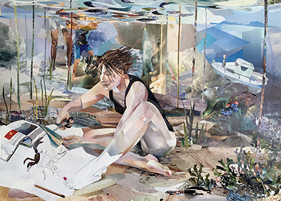 Ylva Landoff Lindberg, My Studio is My Cave or The Illusion of a Solution, Paper collage, 2016