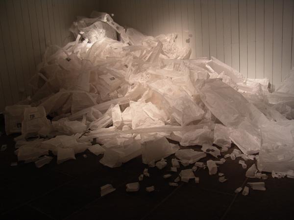 雷燕《我要怎样保护你》材料 硫酸纸 2009
